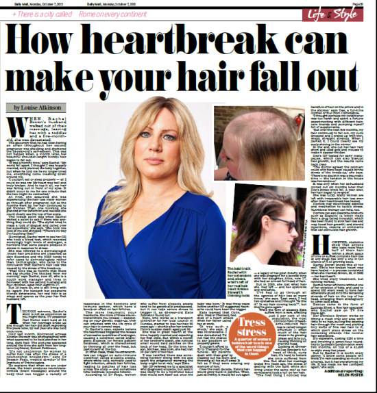 Daily Mail article featuring Rachel Brown