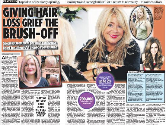 Edinburgh Evening News hair loss article