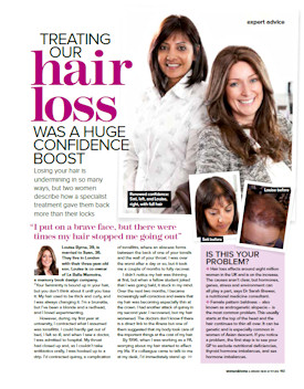 Woman and Home hair loss article page 1