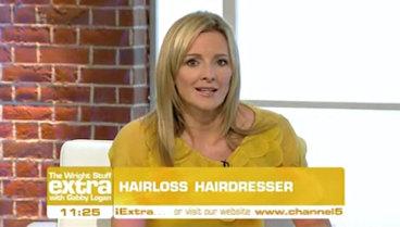 Gabby Logan interviewing Hannah Westwood